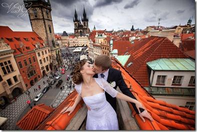 Свадебные фотографии - центр Праги
