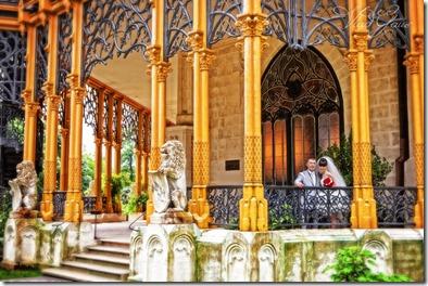 Свадебные фотографии из чешкого замка Глубока