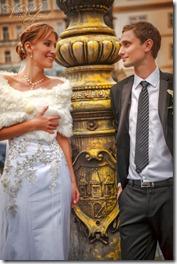 Свадебные фотографии Прага и замок Брандис