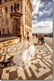 Свадебные фотографии - Прага и Вртбовский сад