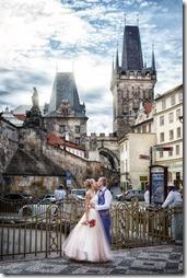 Фотографии со свадьбы в центре старой Праги - фотограф Владислав Гаус